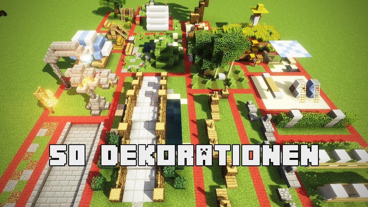 50 Einfache Und Geniale Dekorationen Fur Minecraft Youtube