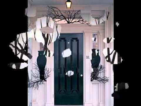 diy halloween door decorating ideas