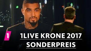 Kevin-Prince Boateng gewinnt den Sonderpreis | 1LIVE Krone 2017
