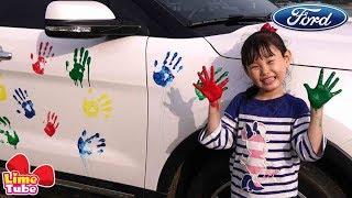 라임 가족에게 SUV가 생겼어요~! 포드 패밀리 세이프티 캠페인! |핑크퐁 물총놀이
