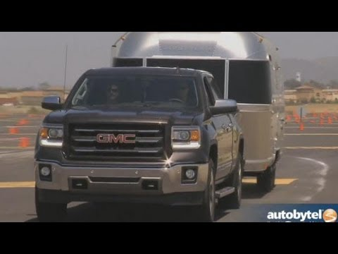 2014 GMC Sierra Glamping Test Drive and Airstream Trailer Towing Video Review