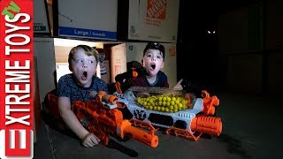 Final Showdown with Mysterious Garage Creature Sneak Attack Squad Nerf Battle