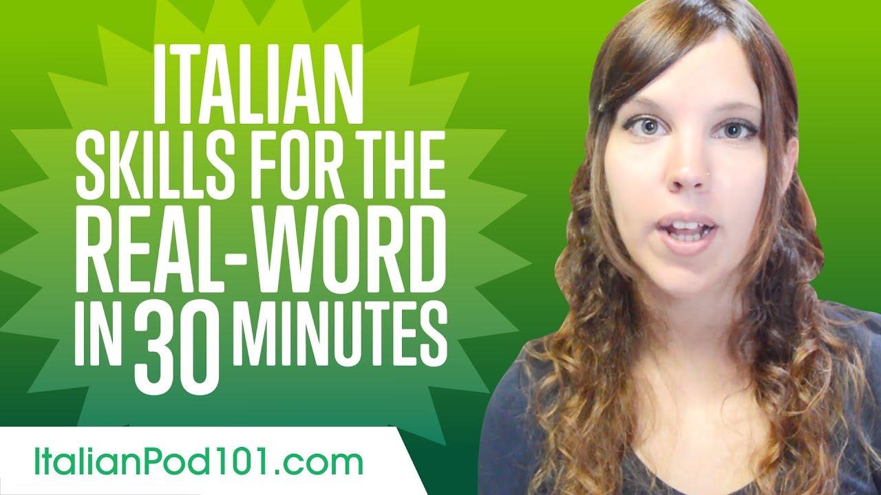 Italian Skills for the Real-World: Spoken Italian Practice
