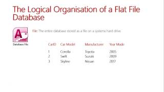 The Logical Organisation of a Flat File Database