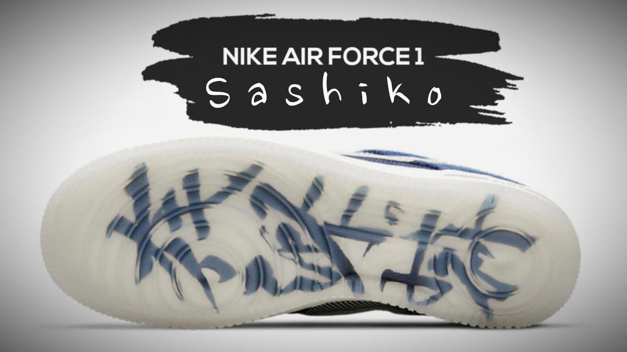 SASHIKO 2021 Nike Air Force 1 DETAILED LOOK