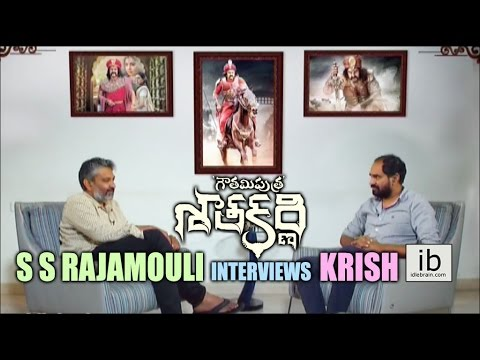 S S Rajamouli interviews Krish for Gautamiputra Satakarni - idlebrain.com