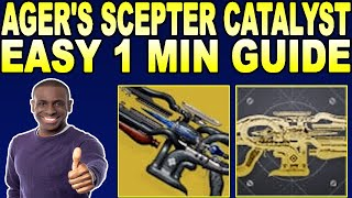 HOW TO GET Ager's Sceṗter Catalyst & Masterwork!- Destiny 2