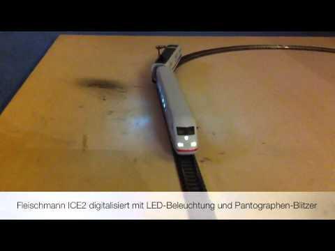 spur n fleischmann ice2 digitalisiert mit led beleuchtung und pantographen blitzer youtube. Black Bedroom Furniture Sets. Home Design Ideas