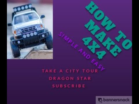 |HOW TO MAKE 4X4 CAR AT HOME EASY||DRAGON STAR