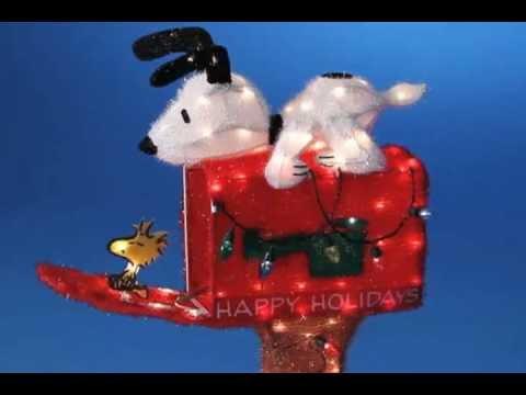 Snoopy Mailbox Peanuts Christmas Decoration  YouTube