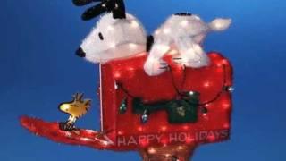 Snoopy Mailbox Peanuts Christmas Decoration
