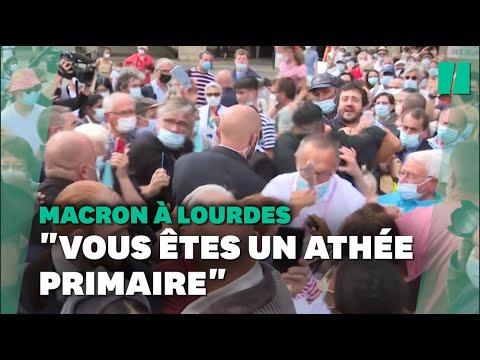 Download Incident lors du bain de foule d'Emmanuel Macron à Lourdes