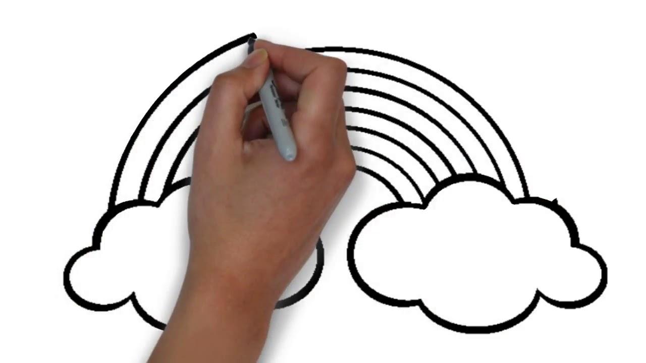 تعلم كيفية رسم ولون قوس قزح متعة للأطفال Youtube
