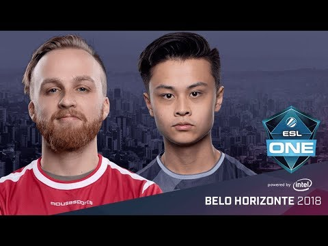 CS:GO - mousesports vs. SK [Dust2] Map 1 - Semifinal - ESL One Belo Horizonte 2018