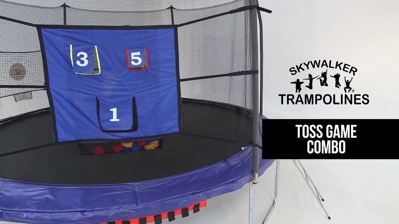 skywalker trampolines toss game combo