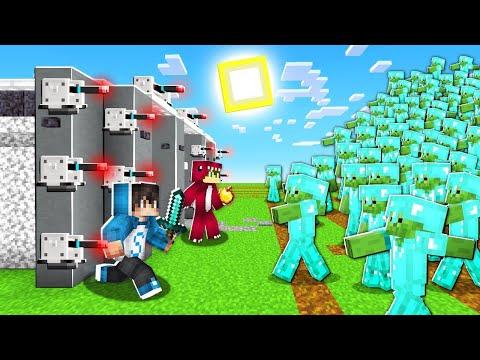 BUNKER SEGURO vs 1000 ZOMBIES de DIAMANTE en Minecraft! 😱😰 LOS COMPAS ROLEPLAY - Sparta356