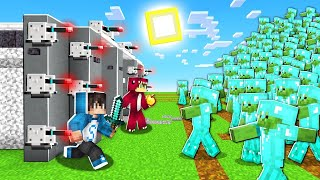 BUNKER SEGURO vs 1000 ZOMBIES de DIAMANTE en Minecraft! 😱😰 LOS COMPAS ROLEPLAY
