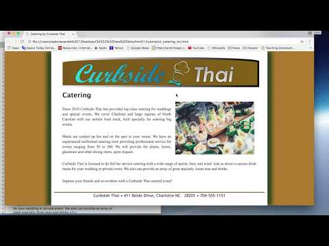 Session 1.2_Part 7_create Reviews, Catering, & Contact Us pages