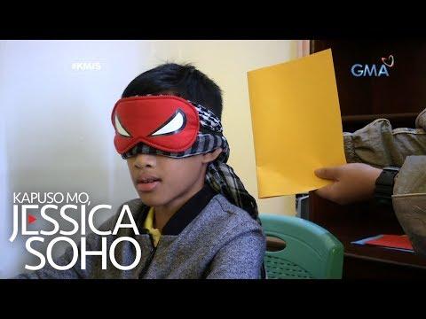 Kapuso Mo, Jessica Soho: Batang henyo, nakababasa kahit nakapiring ang mga mata?