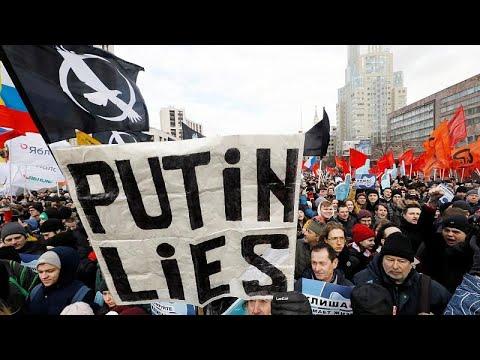 نتيجة بحث الصور عن احتجاجات روسيا
