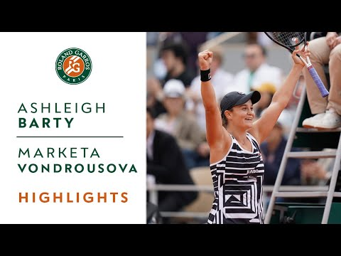 Ashleigh Barty Vs Marketa Vondrousova - Final Highlights | Roland-Garros 2019