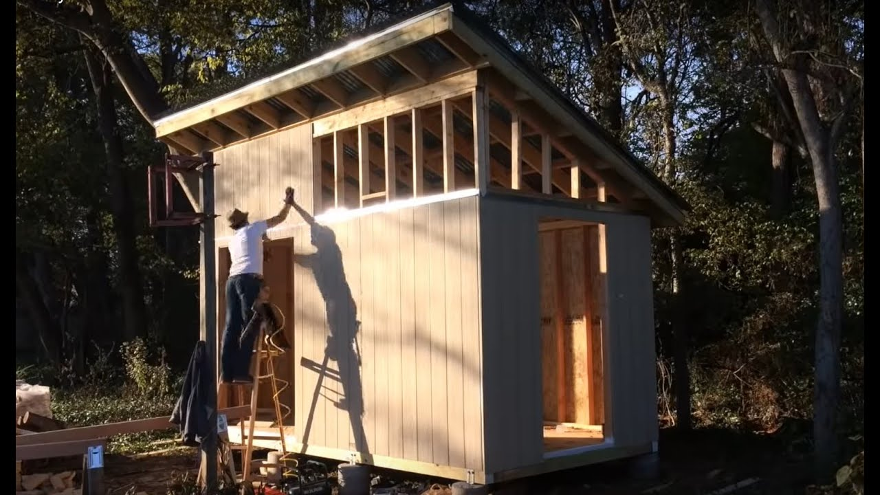I Built My Mom A Shed Youtube