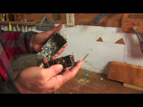 carpentry home improvement skills how to change a two prong outlet to a three prong outlet. Black Bedroom Furniture Sets. Home Design Ideas