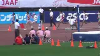 男子1500m決勝 田中佳祐3.45.49 2012日本選手権 Keisuke Tanaka 1st