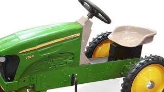 John Deere Plastic Pedal Tractor Toy For Kids