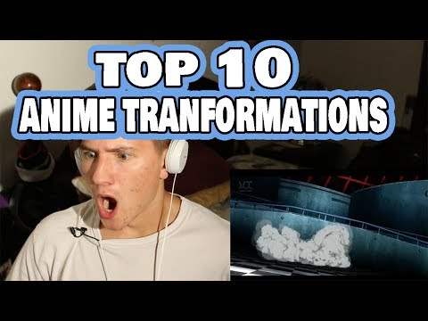 POWER OUT HIS D*CK? | Top 10 Epic Anime Transformations REACTION