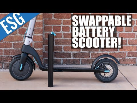 SWAPPABLE BATTERY Electric Scooter! - Levy Electric Scooter Review