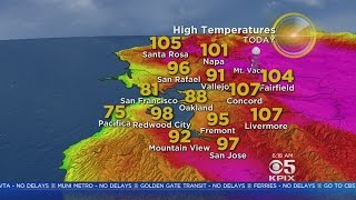 TODAY'S FORECAST: The latest on the heat wave from the KPIX 5 weather team
