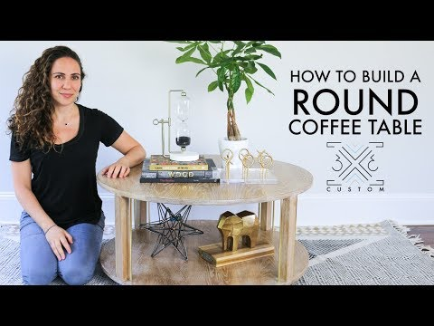 DIY Round Coffee Table // Woodworking Project // Cerused Oak // Router
