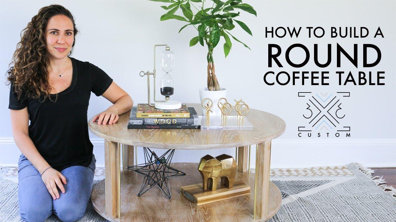 diy round coffee table 3x3 custom