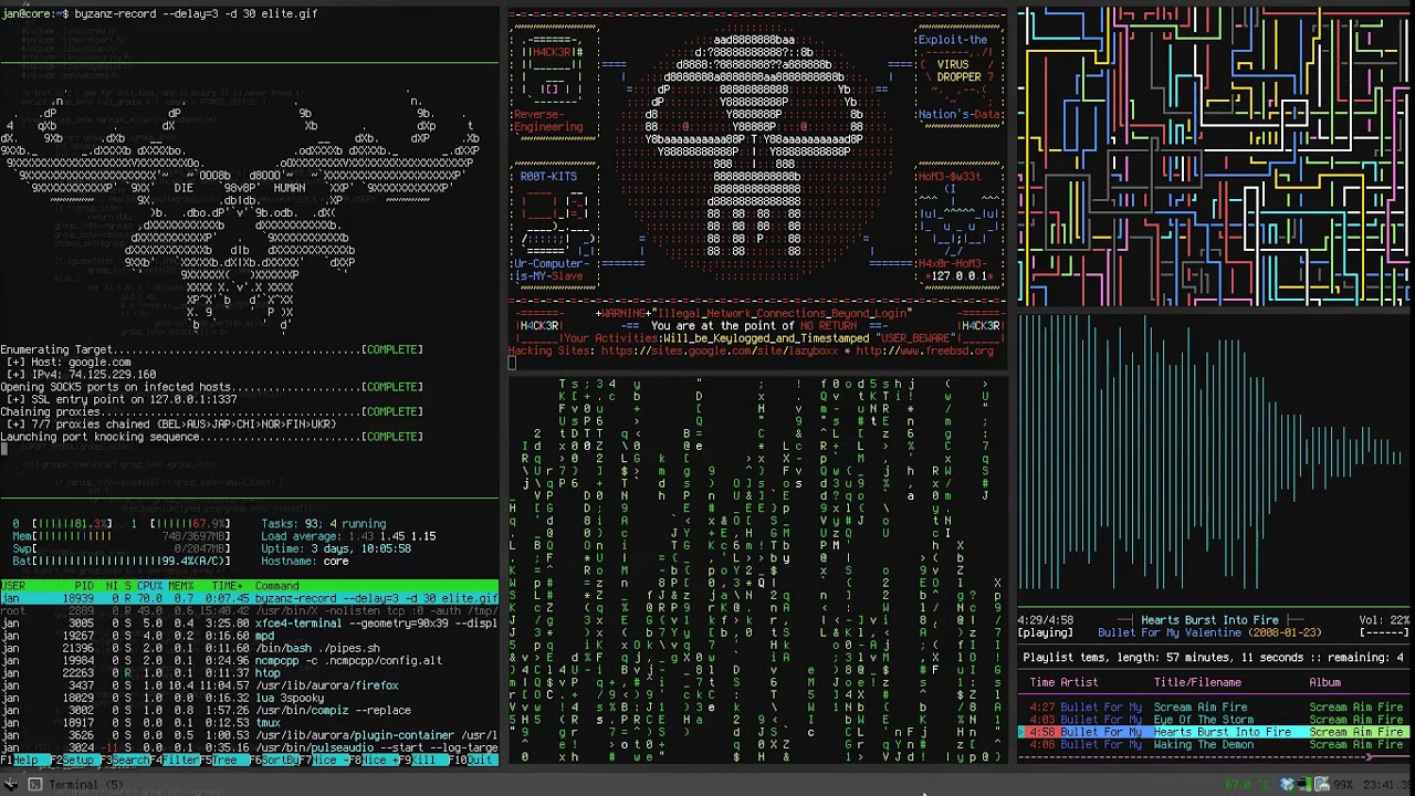 Hacker Screen Hd Live Wallpaper Fond D Ecran Anime Youtube