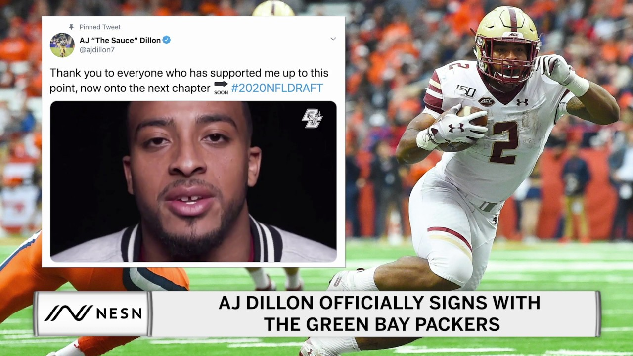 AJ Dillon Officially Signs With The Green Bay Packers