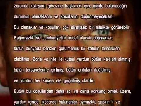 Atatürk'ün Gençliğe Seslenişi (Günümüz Türkçesi)