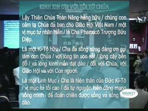 Kinh cầu xin tôi tớ Chúa - Cha Diệp vinh hiển trong hàng ngũ các Thánh trên Thiên Quốc.