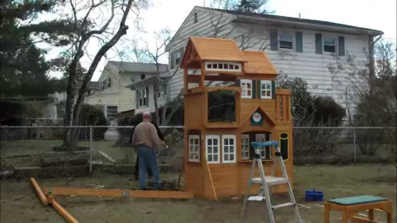 Playground Sets For Backyards Costco Part - 37: 2014 Cedar Summit Mount Forest Lodge Playset From Costco - YouTube