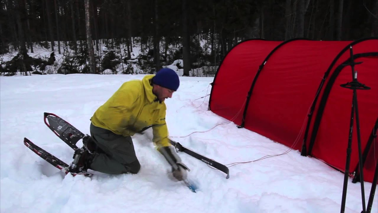 & Using Hilleberg tents in the snow. - YouTube