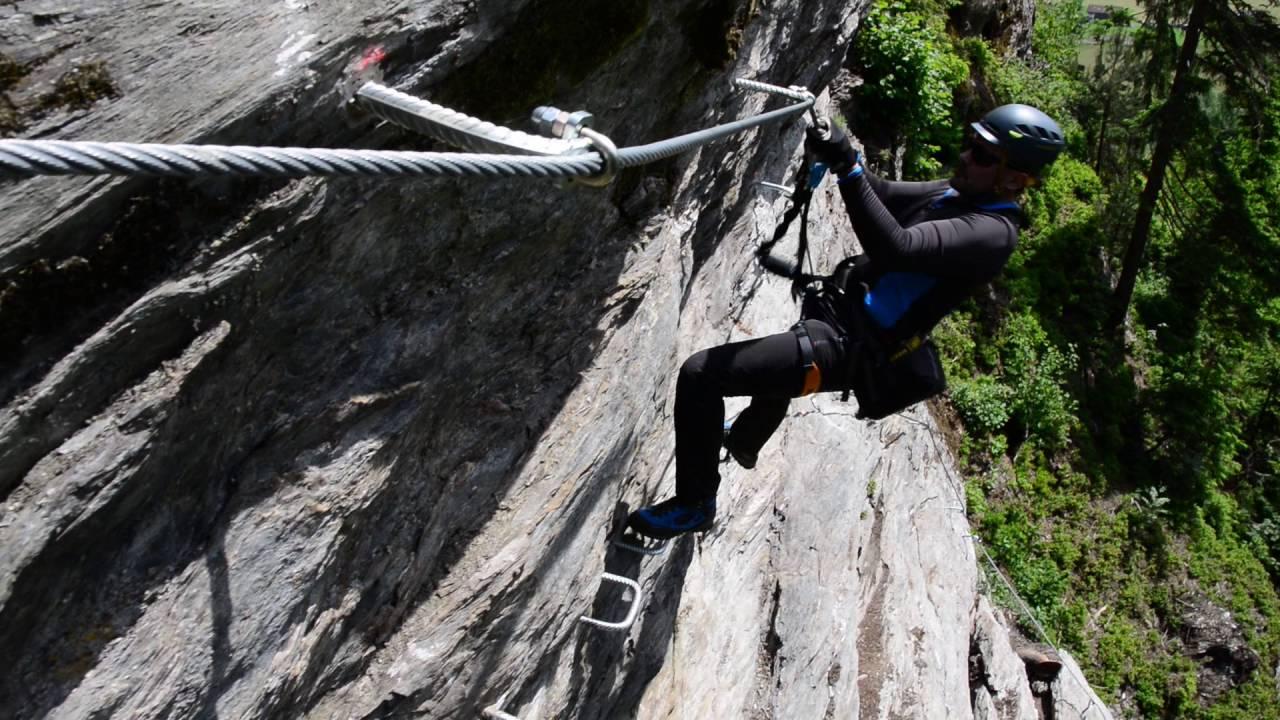 Klettersteig Rating : Klettersteig talbach youtube