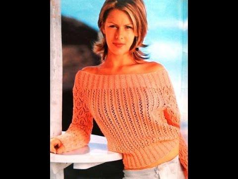 ажурные пуловеры спицами самое интересное в блогах