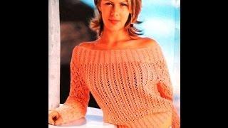 Летний Ажурный пуловер Обзор Схемы вязания