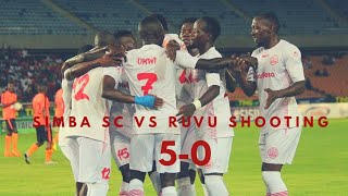 Magoli Yote Simba Sc 5-0 Ruvu Shooting, Okwi Hat trick, Salamba & Kagere