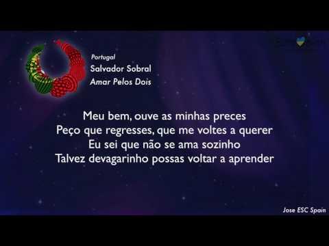 Salvador Sobral - Amar Pelos Dois (Portugal) [Karaoke Version]