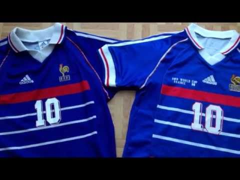 c25c06f7ec9 How to spot a fake football shirt (a good fake) France 1998 soccer jersey -  YouTube