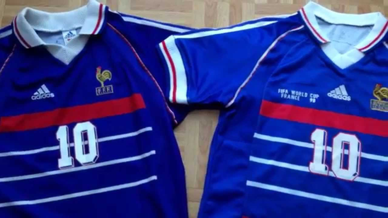 How to spot a fake football shirt (a good fake) France 1998 soccer ... 4409e8f85