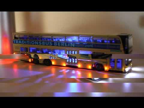 berliner traditionsbus mit led beleuchtung youtube. Black Bedroom Furniture Sets. Home Design Ideas