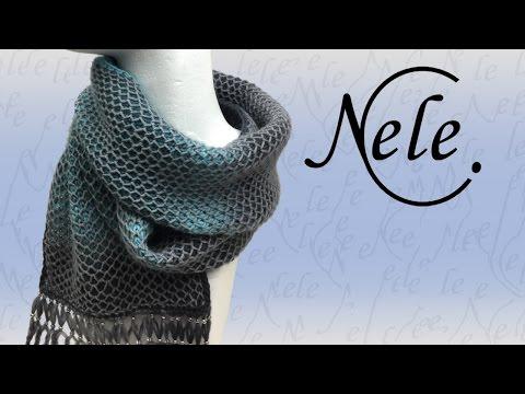 stricken, 2 farbiges Muster im Waffelpatent mit tiefer gestochenen Maschen a la Nele , DIY by NeleC.
