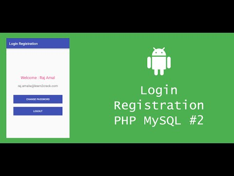 Android Login Registration System with PHP and MySQL - Client #2
